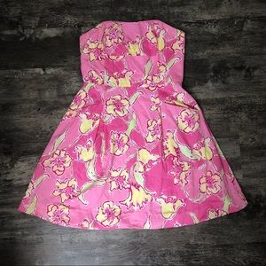 Strapless Lilly Pulitzer Dress with Pockets!